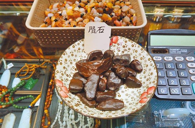 烏魯木齊國際大巴扎連隕石都有賣。(作者提供)