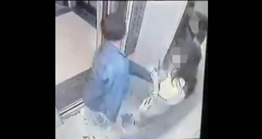 西門町出現襲胸狼,黃姓男子見女子獨自進入電梯,襲胸後從安全梯逃跑。(民眾提供/李文正台北傳真)
