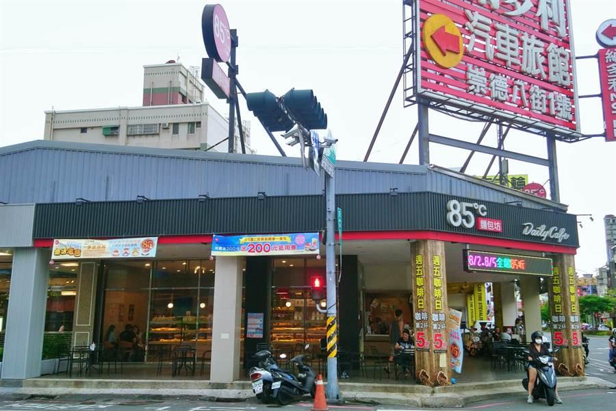 美食-KY旗下85度C台南中華東店。(記者林資傑攝)