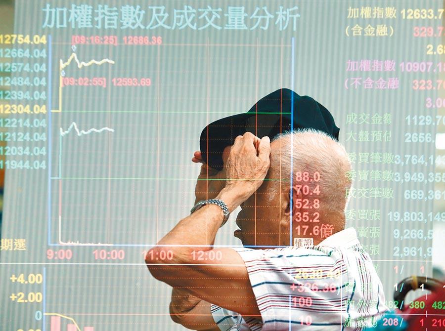 台積電股價昨漲停,帶領台股指數在盤中及收盤改寫歷史新高,不過,集中和櫃買市場合計1327檔股票下跌,多數族群弱勢整理。(陳怡誠攝)