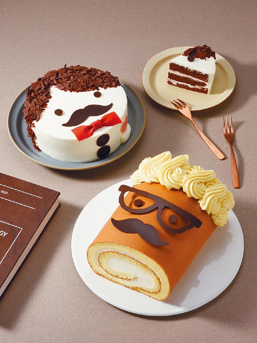 亞尼克推出「歐多桑的笑顏」、「黑森公爵」2款父親節生乳捲及蛋糕,6吋690元。(亞尼克提供)