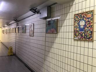 學童畫出家鄉風情 銅鑼火車站地下道變身藝文走廊