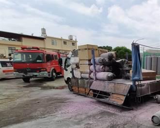 新屋傳貨車火警 2人燒燙傷送醫