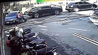 影片曝光!轉彎車撞擊直行機車 台中女騎士顱內出血
