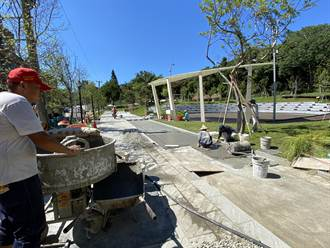 大有梯田公園才啟用不到10天就被破壞 市府急封園改善