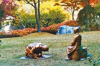 韓銅像影射安倍跪慰安婦 日跳腳