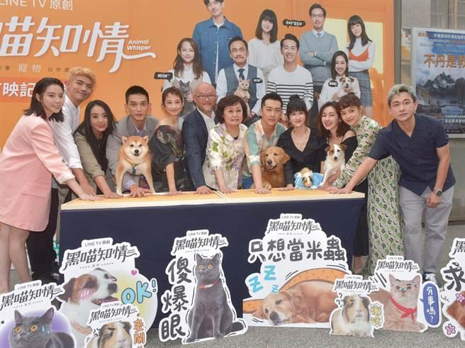 《黑喵知情》28日举行首映会。(卢祎祺摄)
