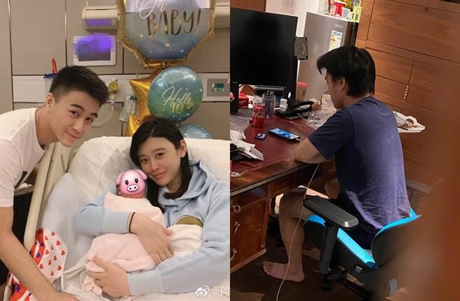 何猷君、奚夢瑤去年閃婚升格當爸媽。(圖/翻攝自Ming奚夢瑤微博)