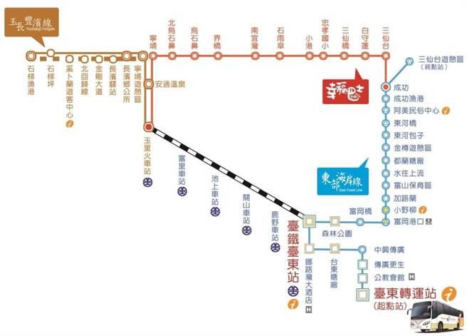 東部海岸國家風景區管理處規畫「玉長豐濱線」,預計八月底上路。(東管處提供/羅亦晽花蓮傳真)