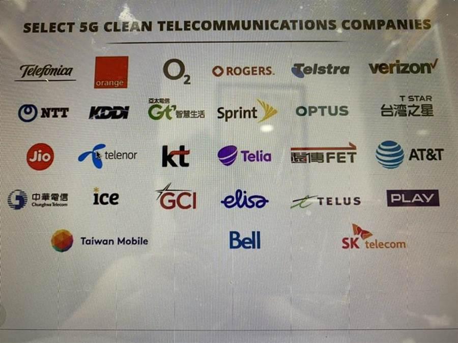 美國國務院更新最新「乾淨5G網路」名單,台灣大哥大、台灣之星都入列。(圖/擷自美國國務院網站)
