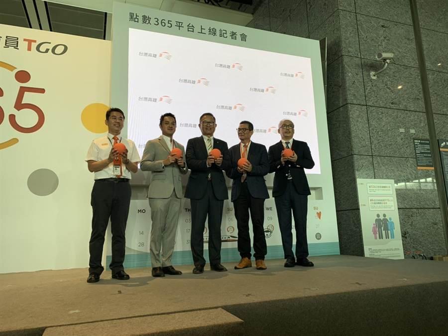 台灣高鐵今宣布點數365平台正式上線。(潘千詩攝)