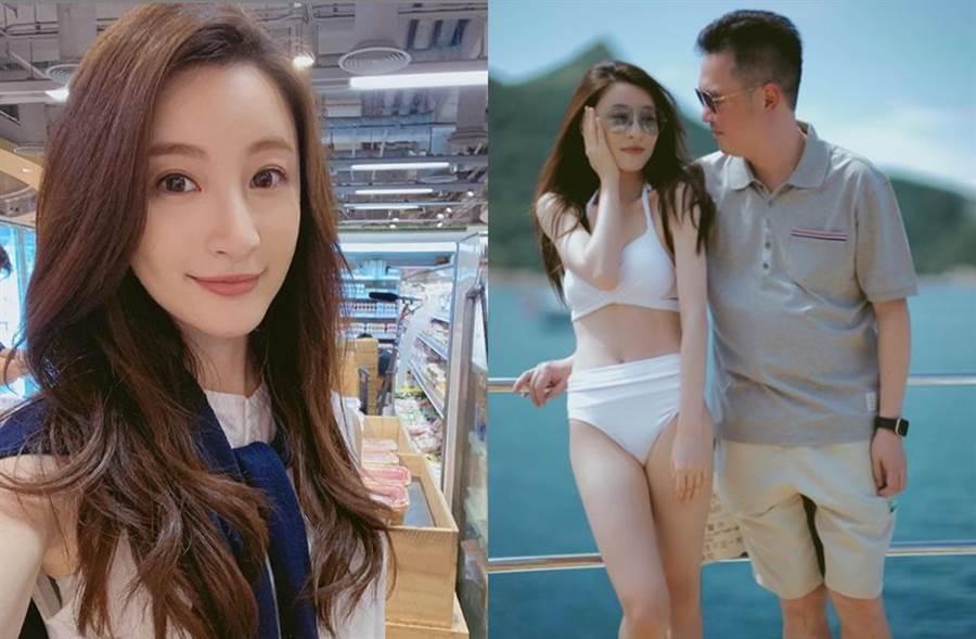 林夏薇2015年低調和大16歲的金融才俊莫贊生結婚。(圖/翻攝自IG)