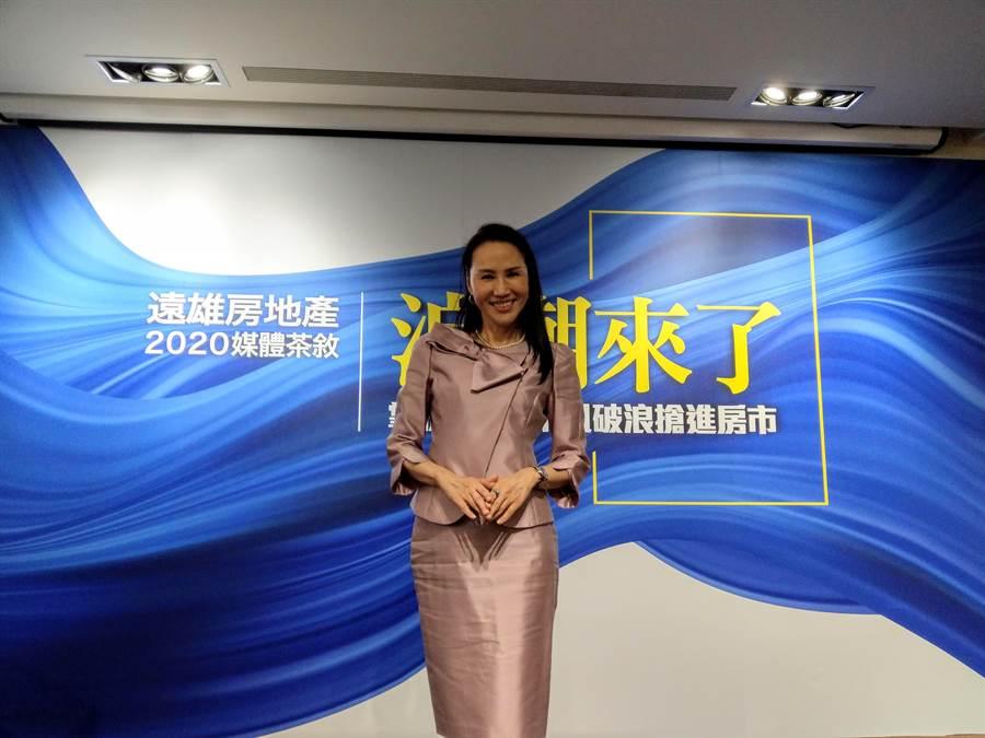 遠雄房地產總經理張麗蓉表示,上半年已達成1天賣1億銷售目標。(葉思含攝)