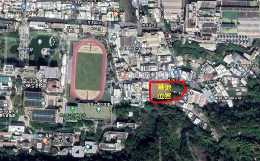 彰化縣已經相中社會住宅的用地,初步規劃在彰師大附近的學士街。(空照圖/吳敏菁彰化傳真)