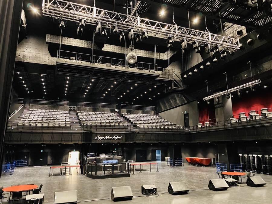 宏匯廣場8樓Zepp New Taipei搖滾廳,1500坪可容納2200人。(宏匯廣場提供)