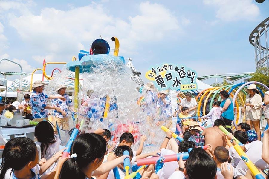 KLOOK推出優惠價200元買台北市兒童新樂園1日歡樂票,現場即可用悠遊卡加購「小小水樂園」門票,優惠價30元。(KLOOK提供)