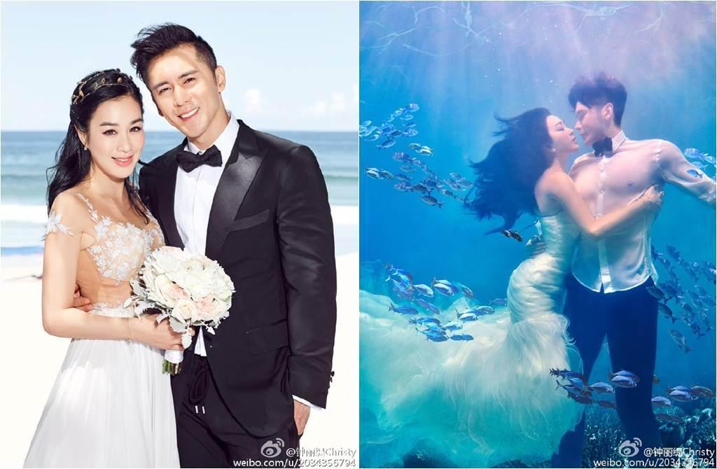 鍾麗緹、張倫碩自2016年結婚至今,夫妻感情始終甜蜜蜜。(圖/取材自鍾麗緹微博)