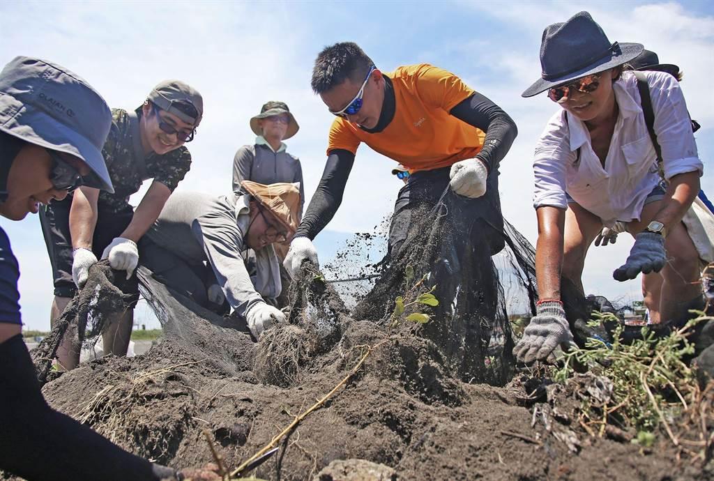 RE-THINK透過這次環島淨灘,募集到 1684 位「首次淨灘者」,讓更多民眾透過淨灘上一堂震撼的環境保護課,擴大環保影響力。(RE-THINK提供/李柏澔台北傳真)