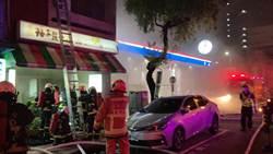 台中市加油站旁邊餐廳突起火  即時控制無人傷亡