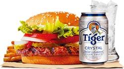 點漢堡套餐 飲料升級冰啤