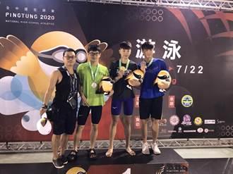新化高中全中運傳佳績 泳將余仁俊奪50公尺仰式銀牌