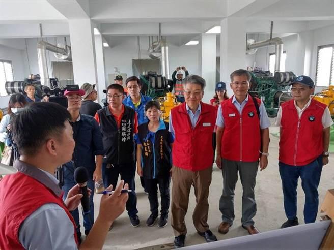 水利署副署長曹華平與雲林縣政府今視察防汛整備情形。(圖/水利署提供)