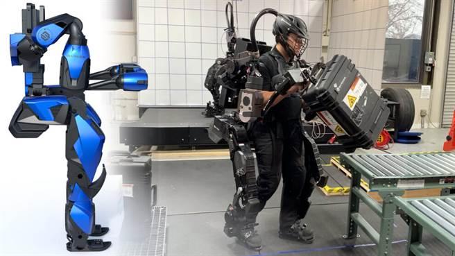 守護者XO動力機器人,可舉行200磅(90公斤)的物體。(圖/Sarcos Robotics)