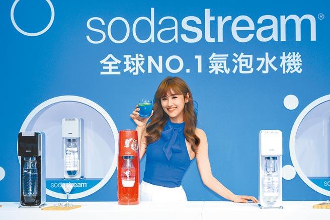 sodastream代言人吳姍儒,獨特「不必妥協 氣泡水特調」食譜公開。圖/業者提供