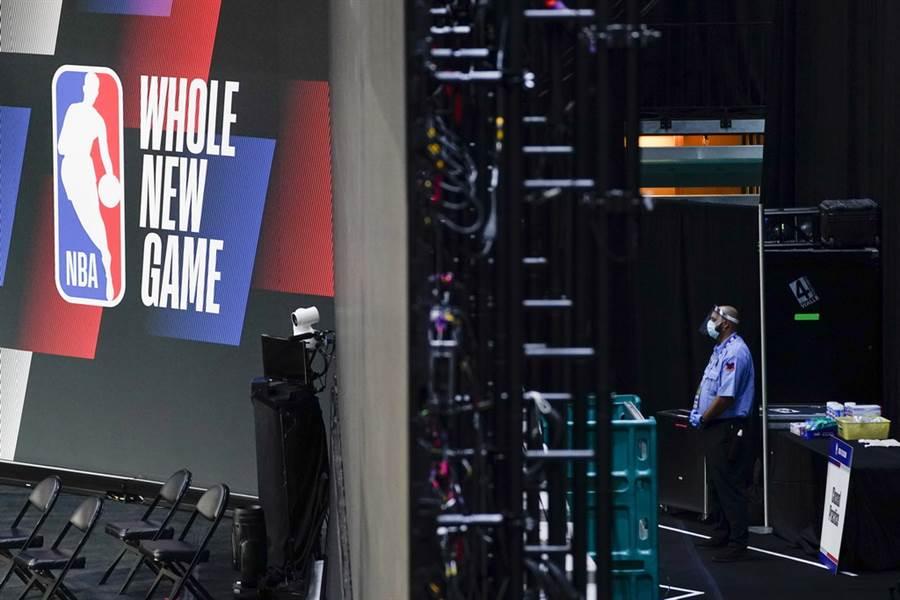 NBA在30日公布最新新冠檢測結果,連兩次全面普測都是0感染。(美聯社)