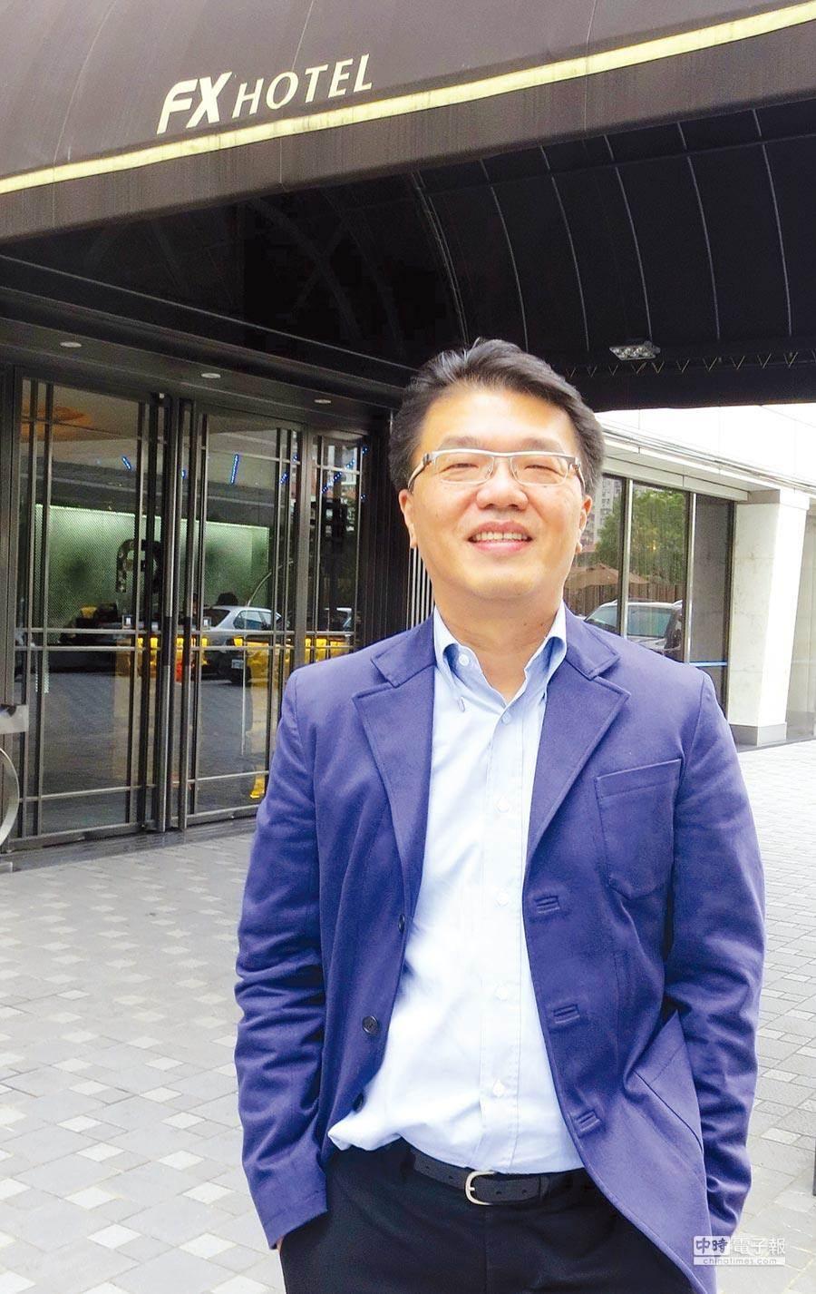 前富驛酒店公司董事長兼總經理侯尊中。資料照片