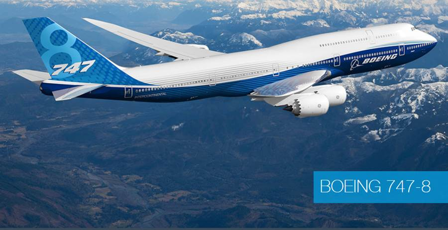 波音747的最后一代机:747-8。波音已决定3年后关闭747生产线。图/取材自波音公司官网