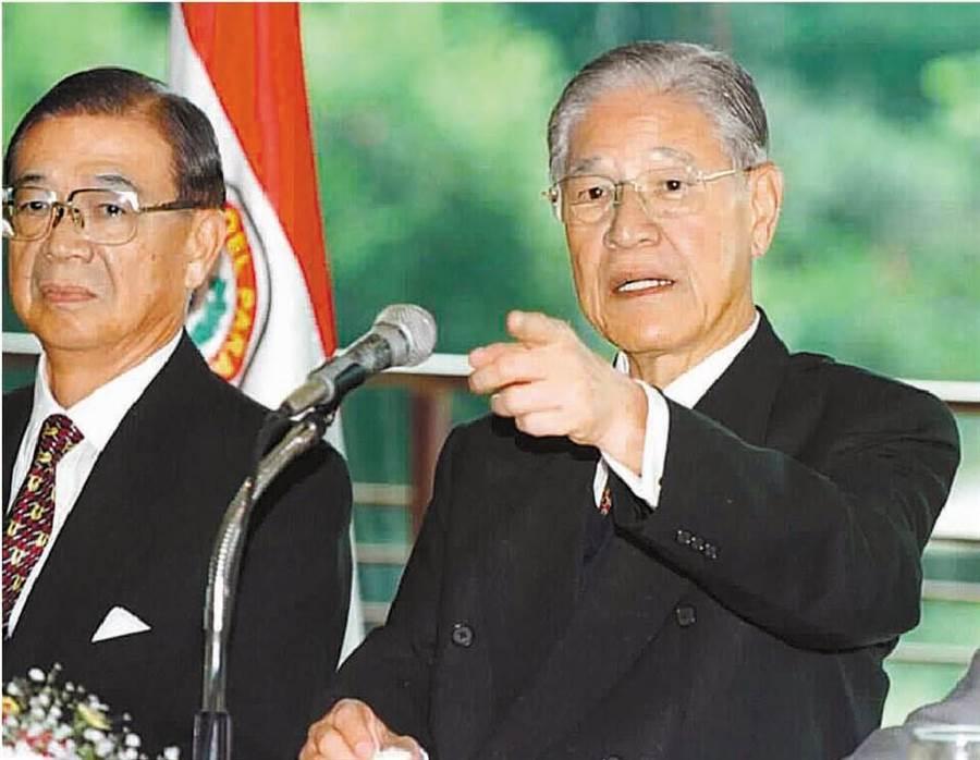 前總統李登輝(右)。(資料照片)