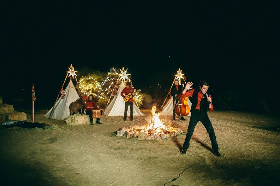 美國知名搖滾團體The Killers(殺手樂團)。(圖/翻攝自臉書)