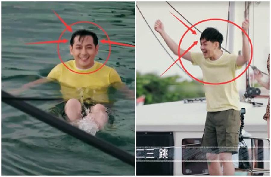 林志颖参加实境秀跳水,露出髮际线掀热议。(取自微博)