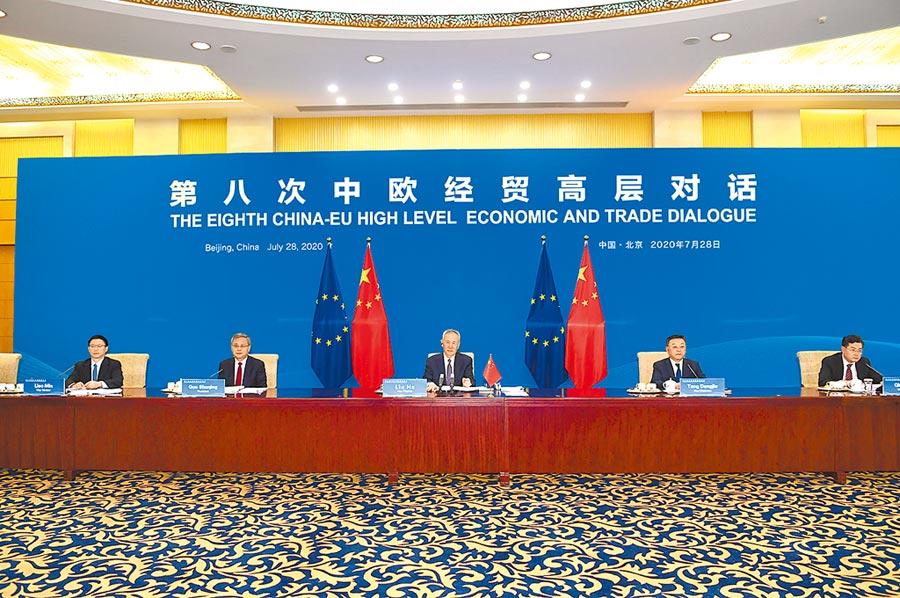 第八次中歐經貿高層對話,雙方將加速推進中歐投資協議。圖/新華社