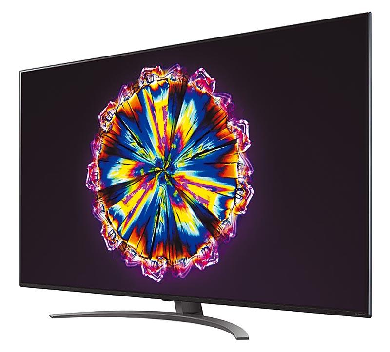 統一時代百貨台北店的集雅社LG 65吋4K一奈米AI語音物聯網電視65NANO91WNA,推薦價6萬4900元,限量20台。(統一時代百貨台北店提供)