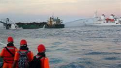 台灣灘海砂不容盜採 海巡大動作2艦2艇威力掃蕩