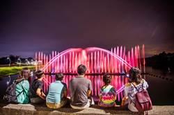 開舞了!蘭潭音樂噴泉8月1日晚間恢復表演
