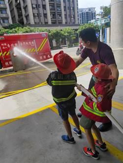 體驗消防員工作 吉得堡補習班赴桃市消防隊參訪