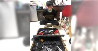 竹聯幫找民宅當軍火庫藏6槍百發彈 「乾淨」小弟當武器大總管