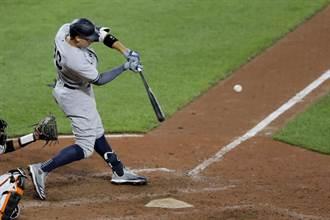 MLB》法官9局逆轉轟 洋基2連勝擒金鶯