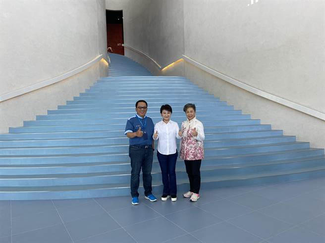 台中市长卢秀燕希望藉由亲自探访自行车文化探索馆,吸引更多民眾前来造访。(卢金足摄)
