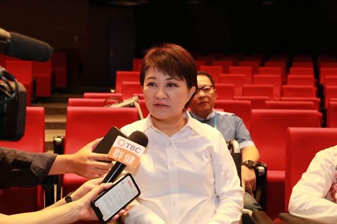 台中市长卢秀燕说,台湾是自行车王国,巨大集团是自行车产业的引领者,是台中的骄傲。(卢金足摄)