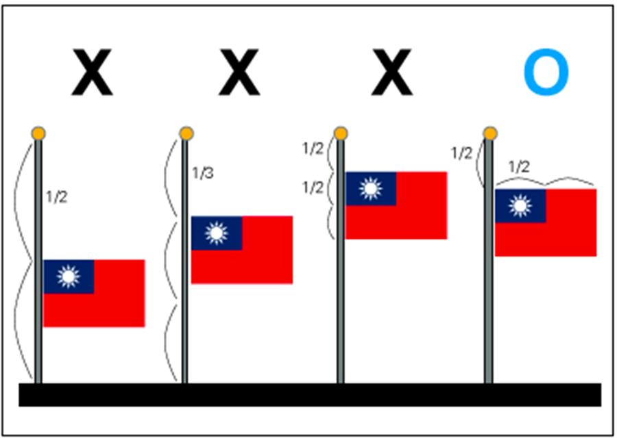 內政部圖示下半旗(內政部提供)