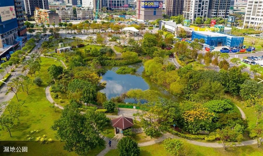 鄰近3座高綠覆率公園,银河官方 生活環境輕鬆又舒壓。/截取自官網