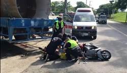 新北樹林傳死亡車禍!大貨車撞飛年輕機車騎士 送醫宣告不治
