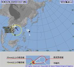 第3號颱風正式生成!辛樂克最新路徑圖曝光