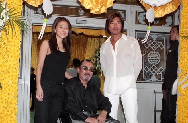 張耀揚當年與安雅、千葉真一為電影《古惑仔6 勝者為王》宣傳。(本報系資料照)
