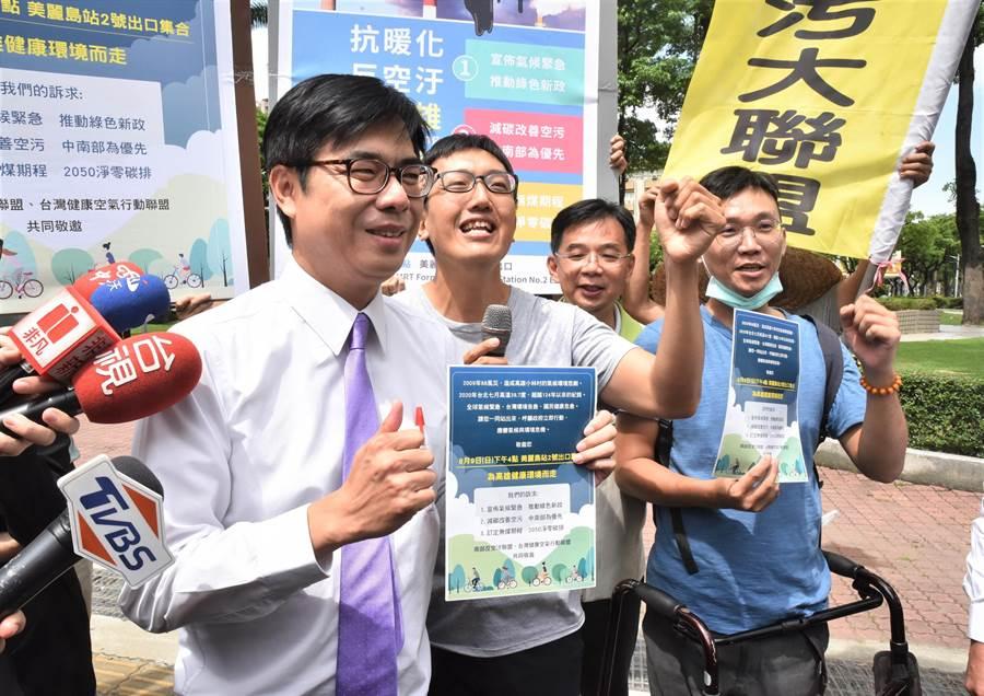 民進黨高雄市長補選候選人陳其邁。(林瑞益攝)