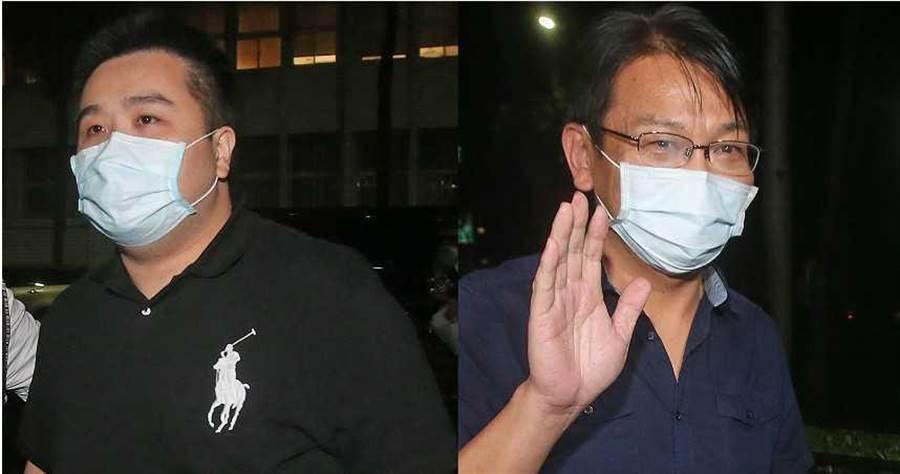 時代力量黨主席徐永明(右)及辦公室主任林鈺傑(左)。(圖/報系資料照)